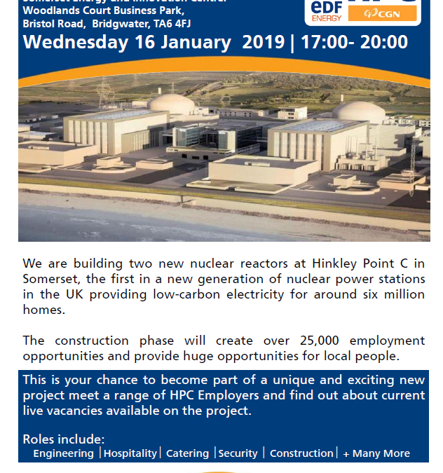 HPC Job Service Recruitment Event Wednesday 16th January 2019