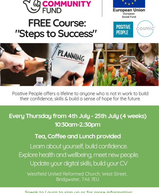 "Free Course in Bridgwater ""Steps to Success"""