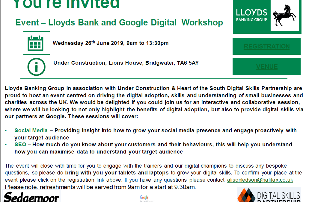 Lloyds Bank and Google Digital Workshop