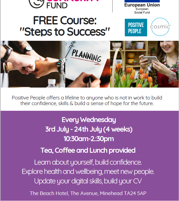 "Free Course in Minehead "" Steps to Success"""