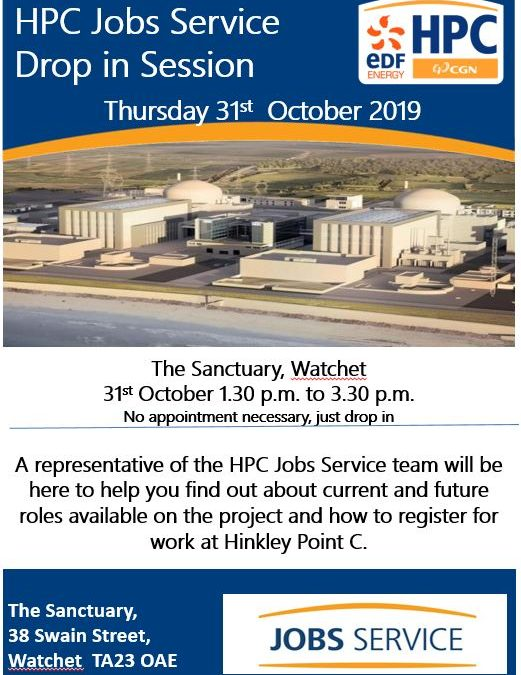 HPC Drop-In – Watchet – 31st October 2019