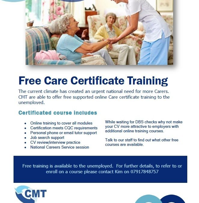 Free, tutor supported, online Care certificate course